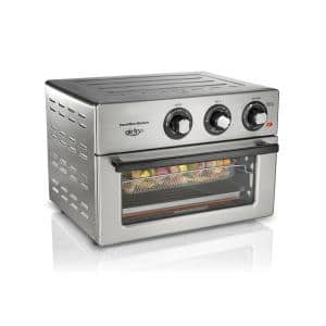 Air Fry 1800 W 6 Slice Stainless Steel Countertop Oven with 6 Cooking Functions