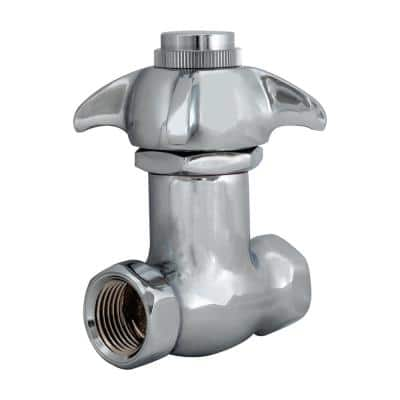 1/2 in. Brass IPS Inlet and Outlet Self-Closing Stop Valve