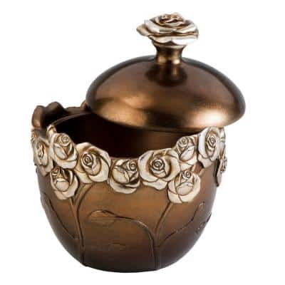 Allure Polyresin Decorative Box with Lid