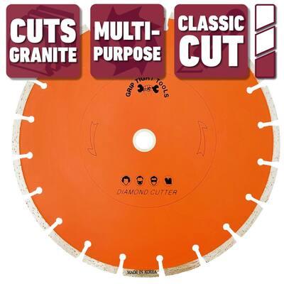 10 in. Classic Segmented Cut General Purpose Diamond Blade, Cuts Granite, Marble, Concrete, Stone, Brick and Masonry