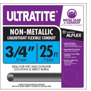 3/4 in. x 25 ft. Ultratite Liquidtight Flexible Non-Metallic PVC Conduit