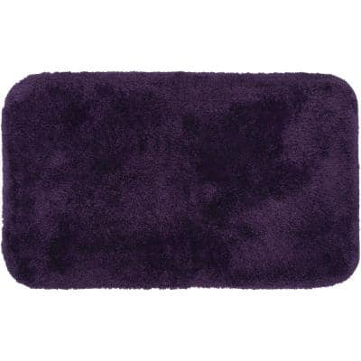 Royal Purple 21 in. x 34 in. Nylon Machine Washable Bath Mat