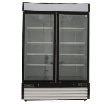 Maxx Cold 48 Cu Ft, 2 Door, Glass Merchandiser Refrigerator, White Cabinet