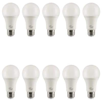 40/60/100-Watt Equivalent A19 3-Way and Energy Star LED Light Bulb in Warm White 2700K (10-Pack)