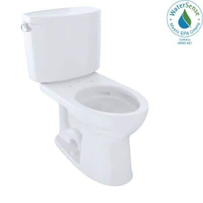 Drake II 2-Piece 1.28 GPF Single Flush Elongated Toilet with CeFiONtect in Cotton White, Seat Not Included