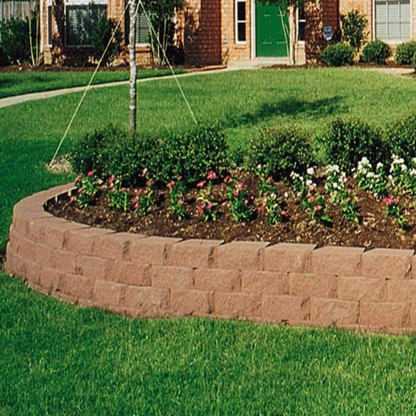 Pavestone 6 75 In L X 11 63 In W X 4 In H Terra Cotta Retaining Wall Block 144 Pieces 46 6 Sq Ft Pallet 81166 The Home Depot