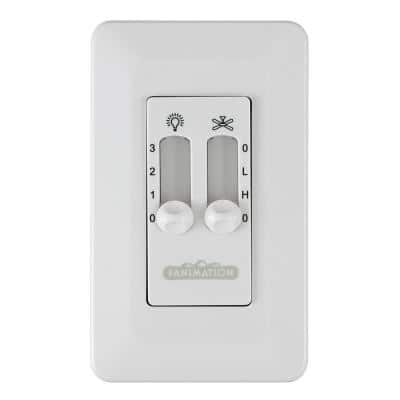 3-Speed Wall Control Non-Reversing Switch, White