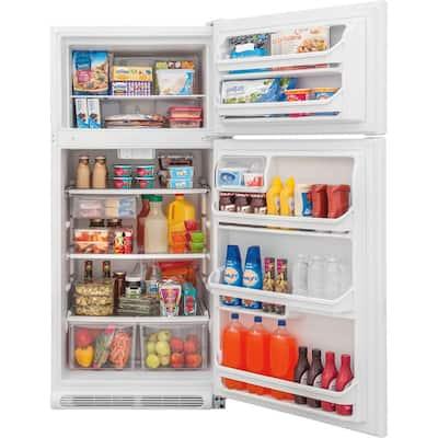 20.4 cu. ft. Top Freezer Refrigerator in White