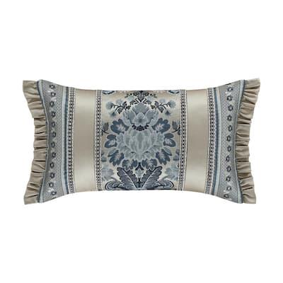 Geraldine Indigo Boudoir Decorative Throw Pillow