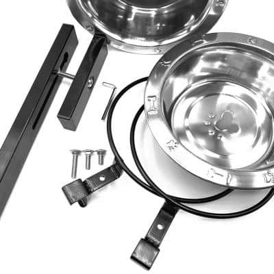 Steel Double Dog Bowl Kit