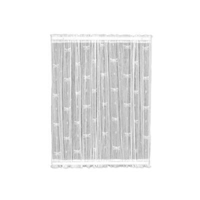 White Distressed Rod Pocket Room Darkening Door Curtain - 45 in. W x 36 in. L