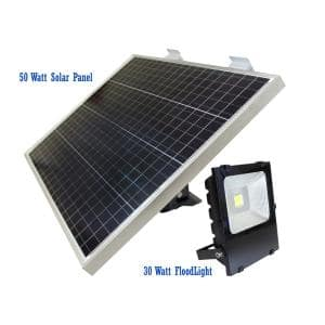 30-Watt 4500-Lumen Gray Outdoor Integrated LED Area Light with Detachable Flood Head Smart Function