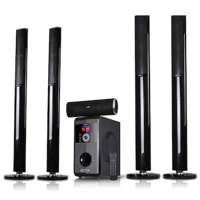 5.1-Channel Surround Sound Wired Bluetooth Speaker System