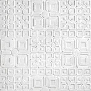Cottage Garden Paintable Luxury Vinyl White & Off-White Wallpaper Sample
