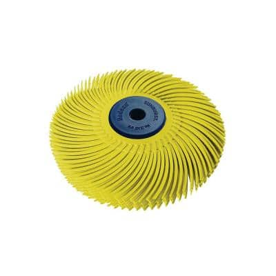 Sunburst 3 in. 80-Grit 6-Ply Radial Discs 1/4 in. Arbor Coarse Thermoplastic Cleaning and Polishing Tool