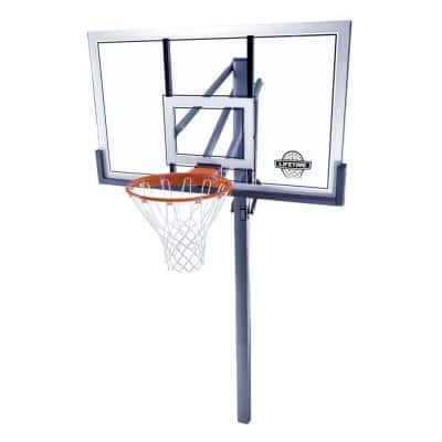 54 in. Acrylic Power Lift In-Ground Basketball System