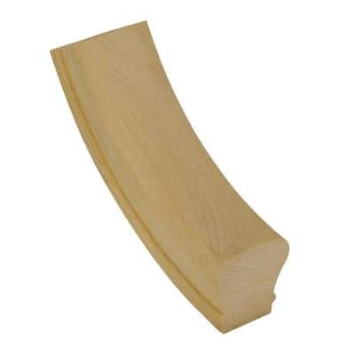 7012 Unfinished Poplar Up-Easing Stair Handrail Fitting