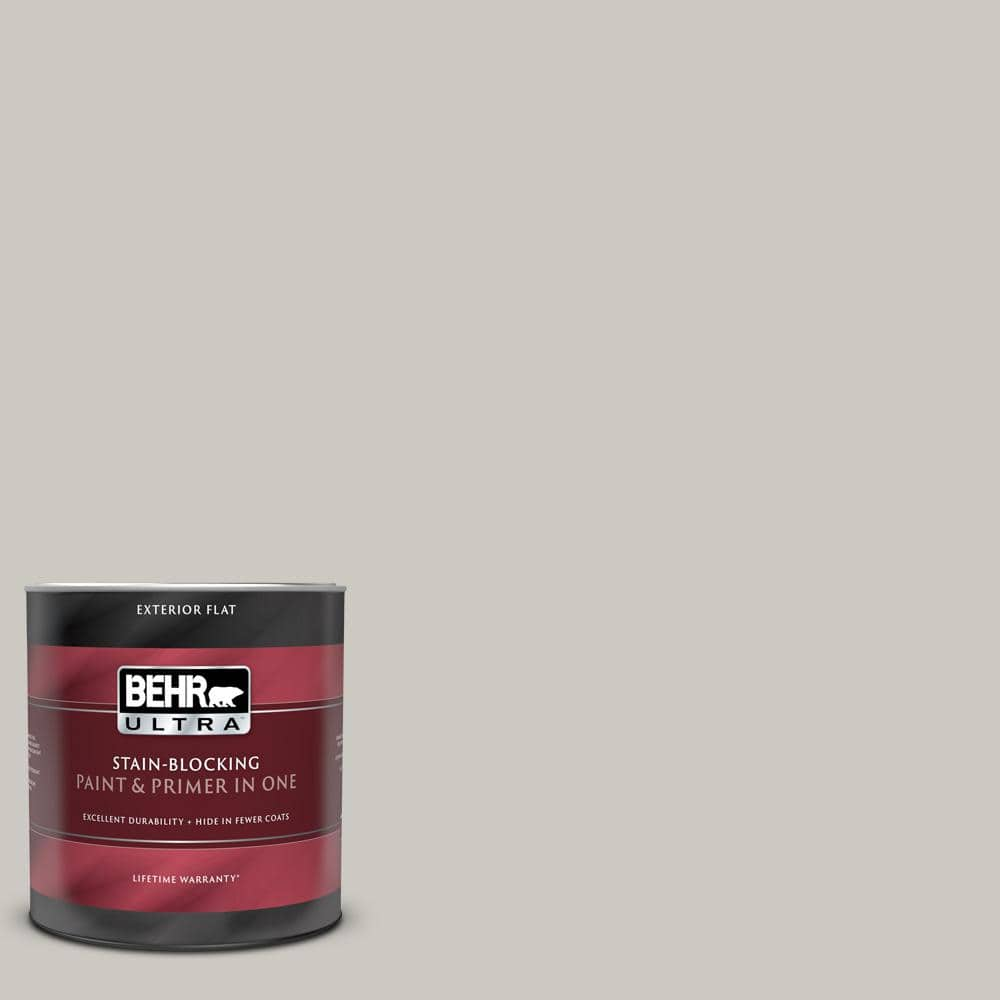 Reviews For Behr Ultra 1 Qt 790c 3 Dolphin Fin Flat Exterior Paint And Primer In One 485004 The Home Depot