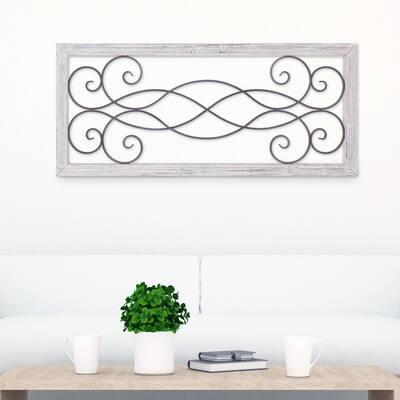 Rustic Scroll Wall Art