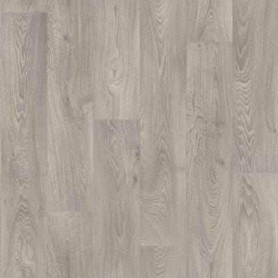 Natural Gray Oak Plank Residential Vinyl Sheet, Sold by 12 ft. W x Custom Length