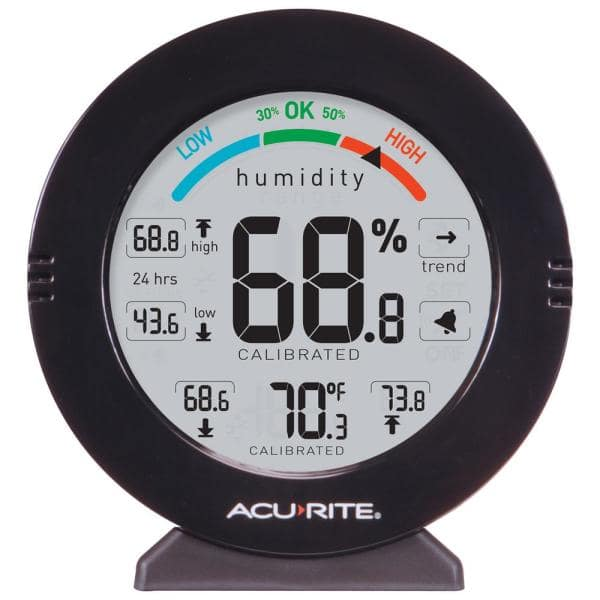 AcuRite - Pro Accuracy Indoor Temperature and Humidity Monitor with Alarms