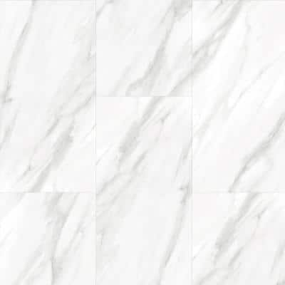Carrara Marble 12 in. x 24 in. Luxury Vinyl Tile Peel And Stick Wall (18 sq. ft. / Case)
