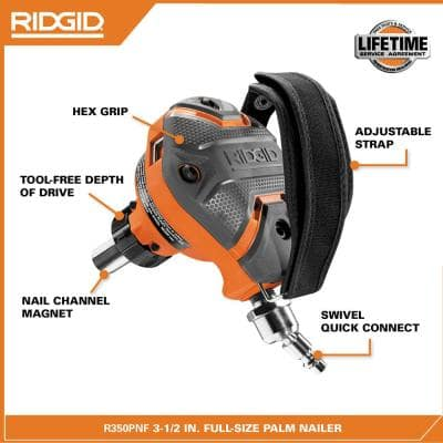 Pneumatic 3-1/2 in. Full-Size Palm Nailer
