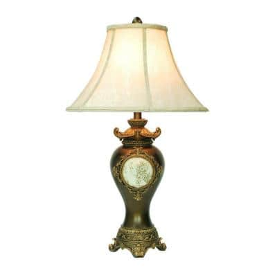 29 in. Antique Brass Table Lamp