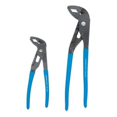 GRIPLOCK 9-1/2 in., 6-1/2 in. Tongue and Groove Plier Set (2-Piece)