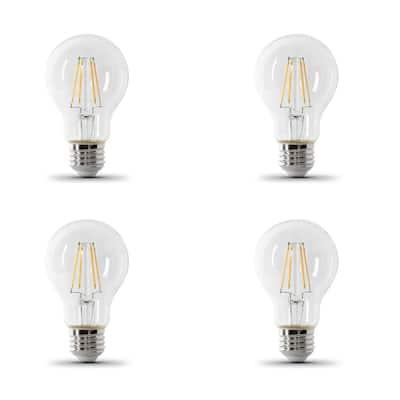 60-Watt Equivalent A19 IntelliBulb Dusk to Dawn CEC Title 20 Compliant LED Light Bulb Clear Daylight (5000K) (4-Pack)