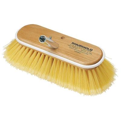 10 in. Soft Yellow Polystyrene Deck Brush