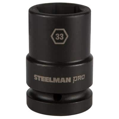 1 in. x 33 mm 6 Point Drive Impact Thin Wall Deep Socket