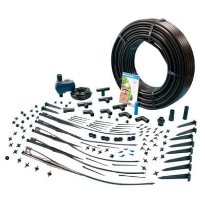 Exclusive Drip Irrigation and Micro Sprinkler Kit with Waterproof Digital Solar Powered Hose End Timer (Tap Timer)