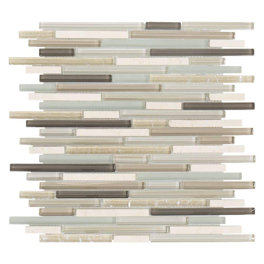 jeffrey court cocoa mint 11 5 in x 11 625 in interlocking textured glass mosaic tile 99347 the home depot