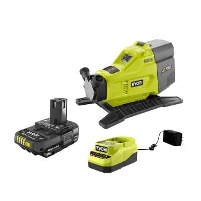 ONE+ 18V Hybrid Transfer Pump and 2.0 Ah Compact Battery and Charger Starter Kit