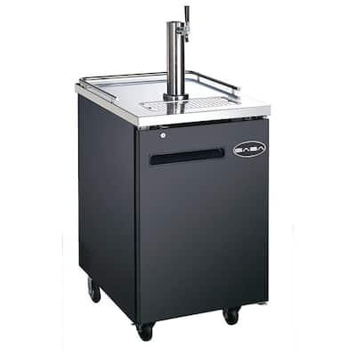 One 1/2 Barrel Beer Keg Dispenser Refrigerator Cooler with Single Tap Tower
