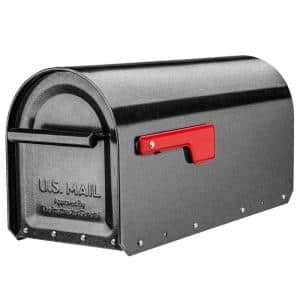 Sequoia Pewter Heavy-Duty Post Mount Mailbox