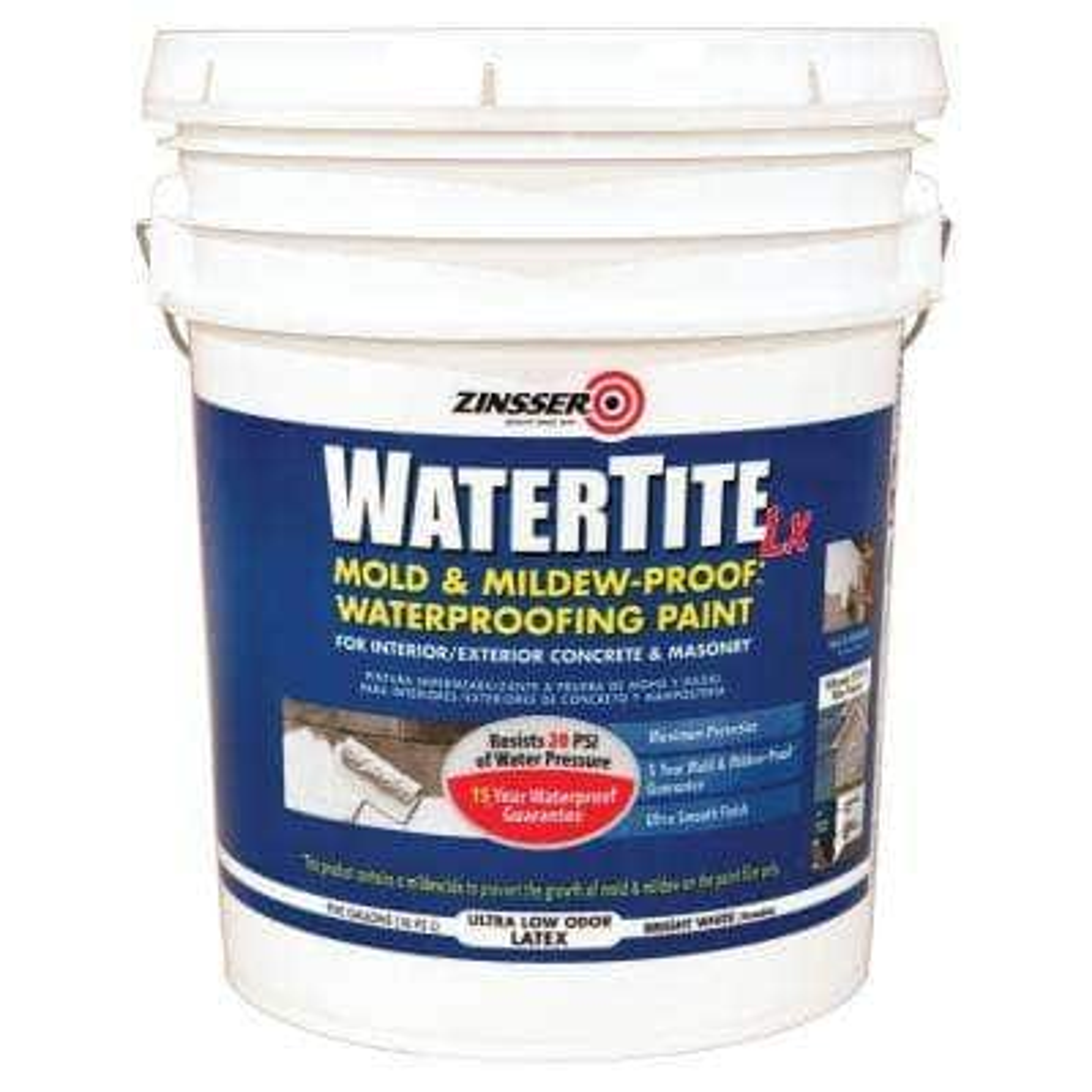 5 Gal. WaterTite LX Low VOC Mold and Mildew-Proof White Water Based Waterproofing Paint