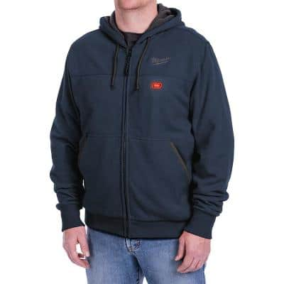 Men's Small M12 12-Volt Lithium-Ion Cordless Blue Heated Hoodie (Hoodie-Only)