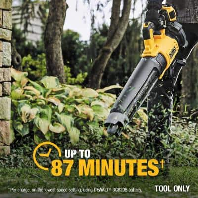 125 MPH 450 CFM 20V MAX Cordless Brushless Blower w/(1) 5.0Ah Battery & Charger w/ Bonus 12in 20V Chainsaw (Tool Only)