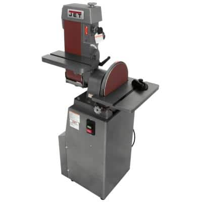 6 in. x 48 in. Industrial Combination Belt and 12 in. Disc Finishing Machine