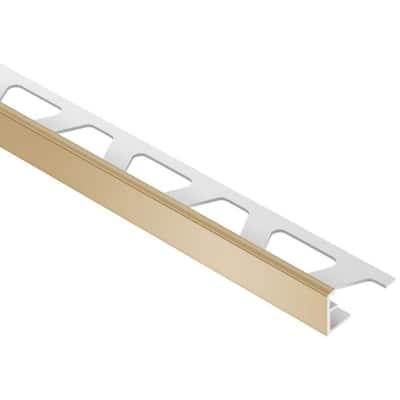 Jolly Light Beige Color-Coated Aluminum 5/16 in. x 8 ft. 2-1/2 in. Metal Tile Edging Trim