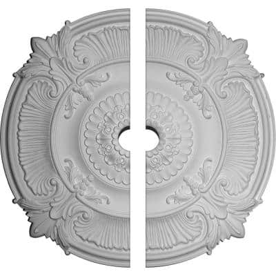 53-1/2 in. x 5 in. x 3-1/2 in. Attica Acanthus Leaf Urethane Ceiling Medallion, 2-Piece (Fits Canopies up to 5 in.)