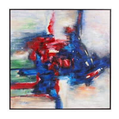 The Tango Floater Frame Abstract Wall Art 61.5 in. x 61.5 in.
