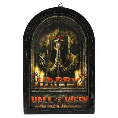Happy Halloween Canvas Print Wall Art with LED Lights
