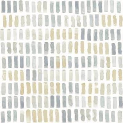 Brynne Yellow Watercolor Wallpaper Sample