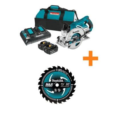 18-Volt X2 LXT (36-Volt) Brushless Cordless Rear Handle 7.25 in. Circular Saw Kit 5.0Ah with Bonus 7.25 in. Saw Blade