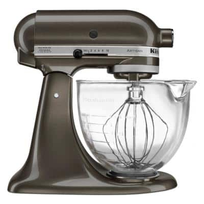 Artisan Designer 5 Qt. 10-Speed Truffle Dust Stand Mixer with Glass Bowl