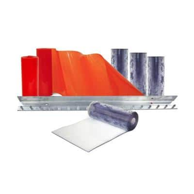 Clear-Flex II 3 ft. x 7 ft. PVC Strip Door Kit