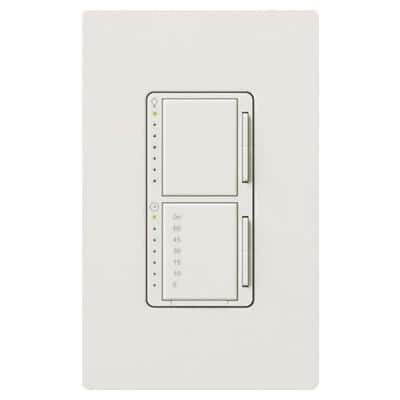 Maestro 300-Watt Single-Pole Dimmer and 2.5 Amp Countdown Timer with Wall Plate - White